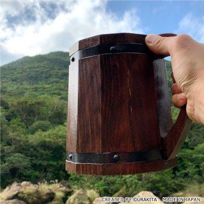 画像1: 【第8弾!】モンスターハンター:ワールド リアルサイズ木樽ジョッキ【ブラウンビンテージ】2020年9月中旬より順次発送予定