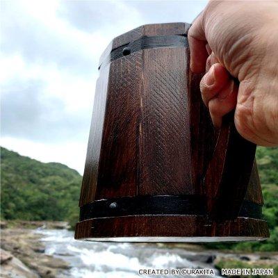 画像2: 【第8弾!】モンスターハンター:ワールド リアルサイズ木樽ジョッキ【ブラウンビンテージ】2020年9月中旬より順次発送予定